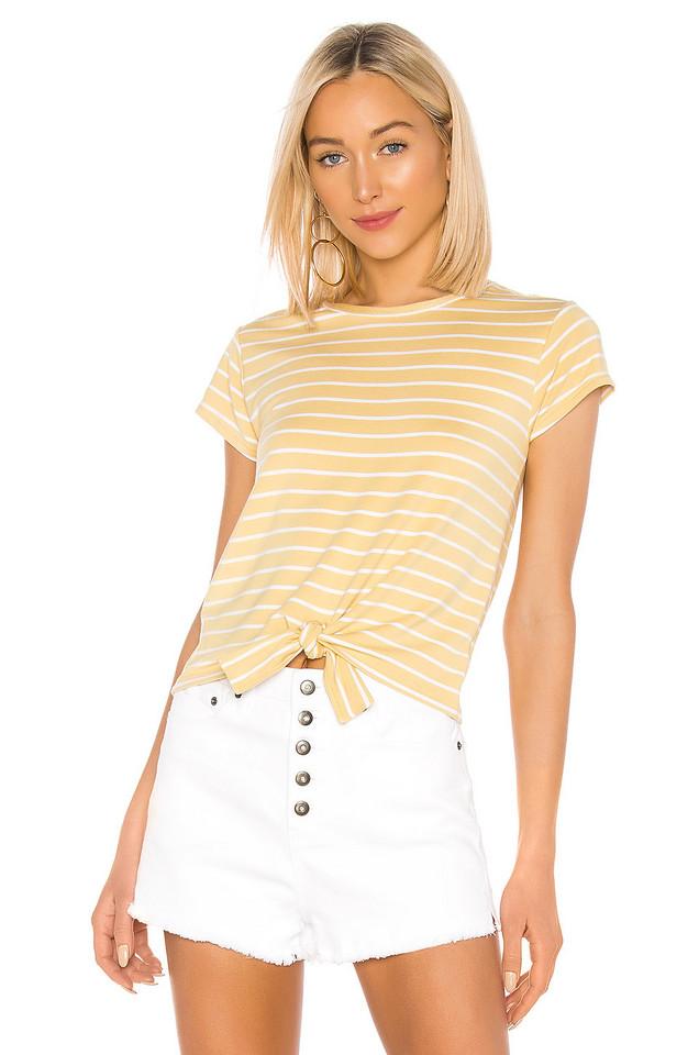 BB Dakota Stripes Ahoy Top in yellow