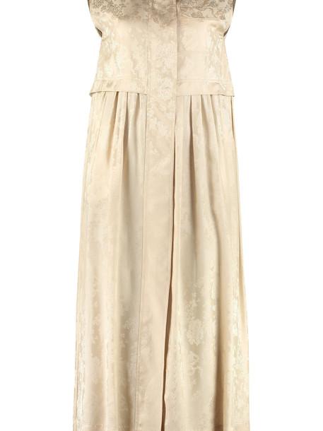Golden Goose Anya Long Damask Dress in beige