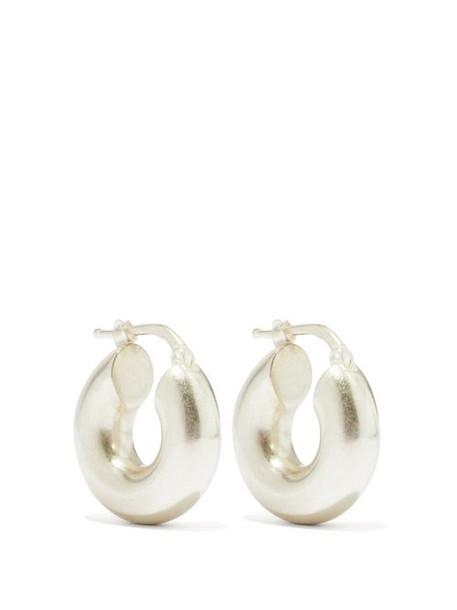 Jil Sander - Sterling-silver Hoop Earrings - Womens - Silver