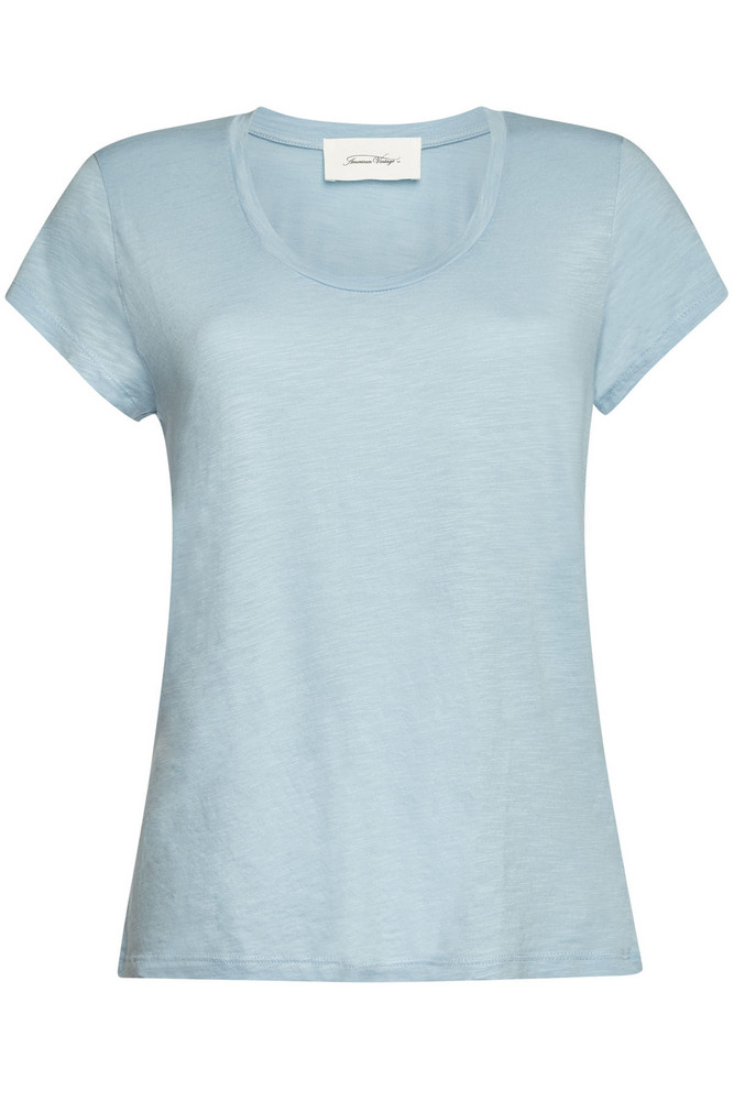 American Vintage T-Shirt with Cotton  in blue