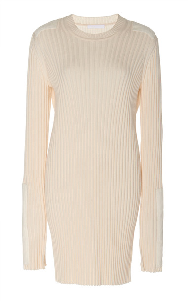 Helmut Lang Patch Dress in white