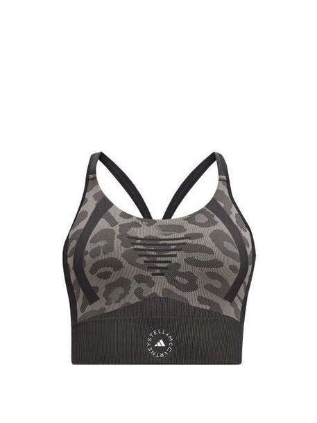 Adidas By Stella Mccartney - Truepurpose Animal-jacquard Sports Bra - Womens - Animal