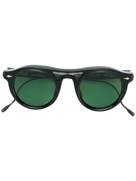 Jacques Marie Mage round sunglasses in black