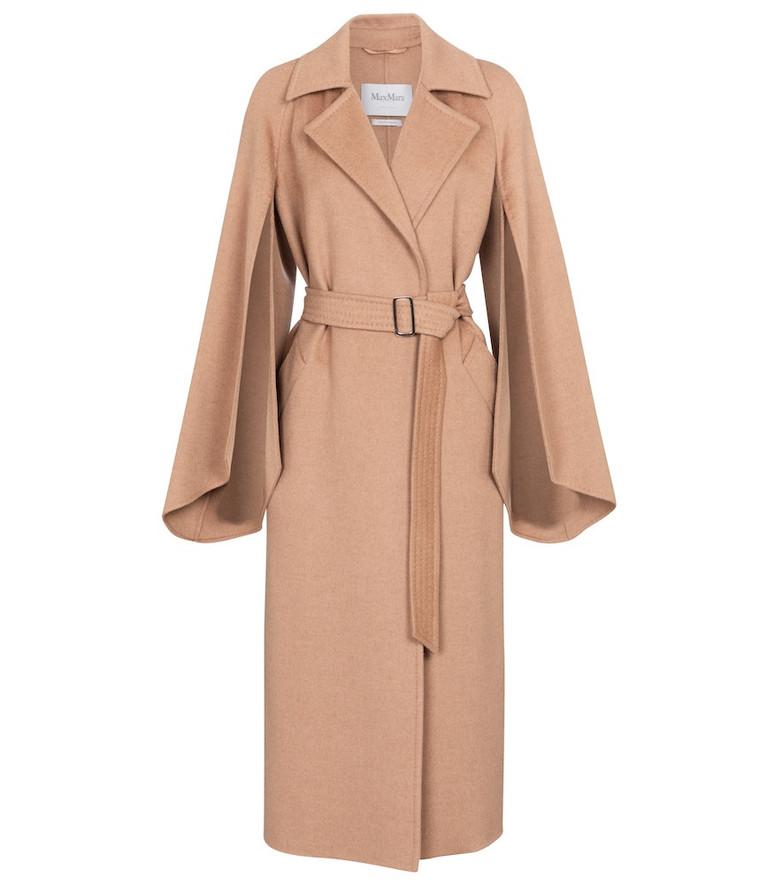 Max Mara Milano camel hair coat in beige