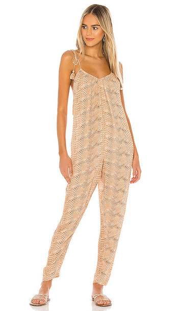 WeWoreWhat Kaia Jumpsuit in Tan