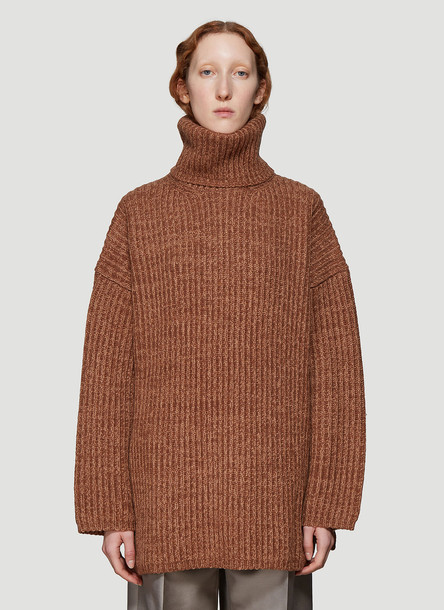 Acne Studios Oversized Knit Sweater in Brown size S
