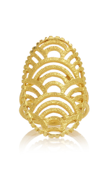 Ilias Lalaounis 18K Gold Nubia Shield Ring