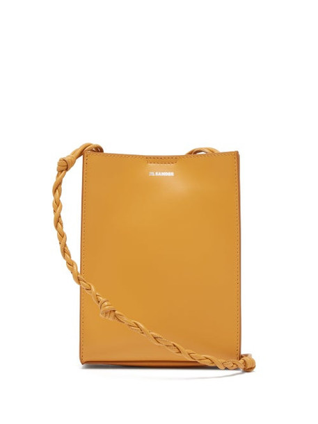 Jil Sander - Tangle Small Knotted-strap Leather Cross-body Bag - Womens - Yellow
