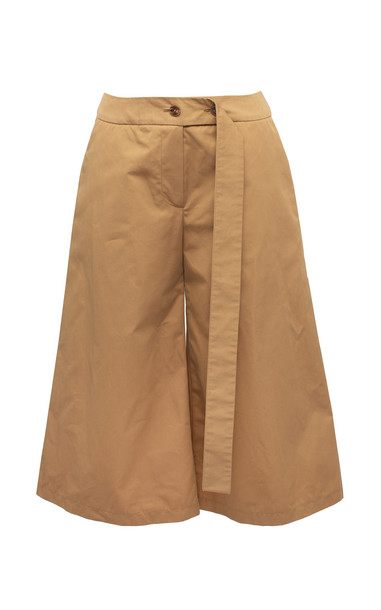 Lake Studio Belted Cotton Shorts Size: 38 in neutral