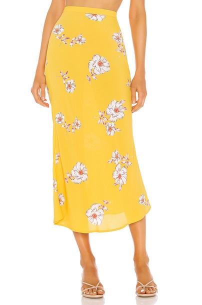 FLYNN SKYE Alice Skirt in yellow