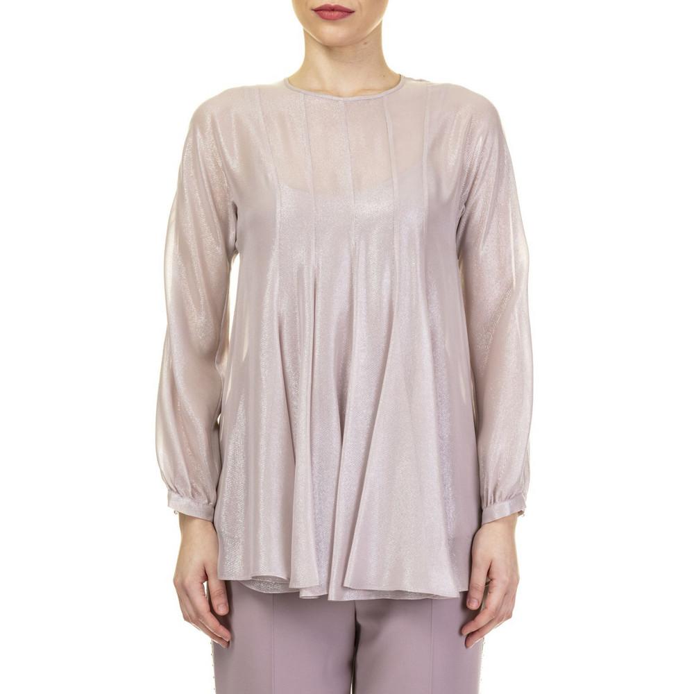 218b20188 Max Mara Studio Max Mara Corallo Cotton Blend Blouse in pink