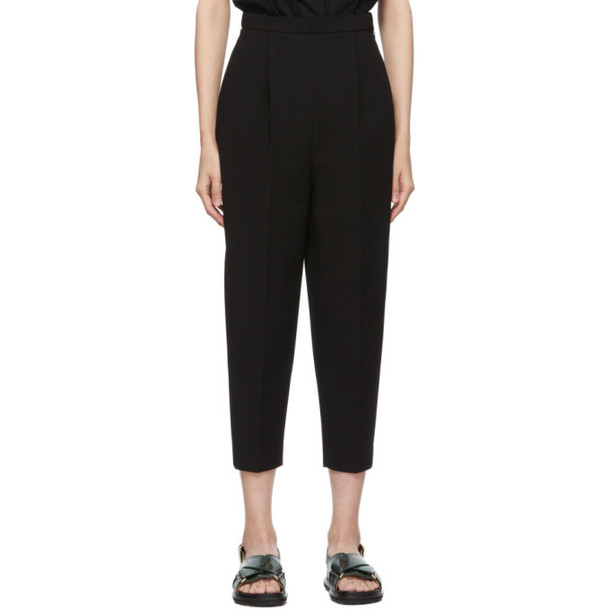 Enfold Black Double Cloth Trousers