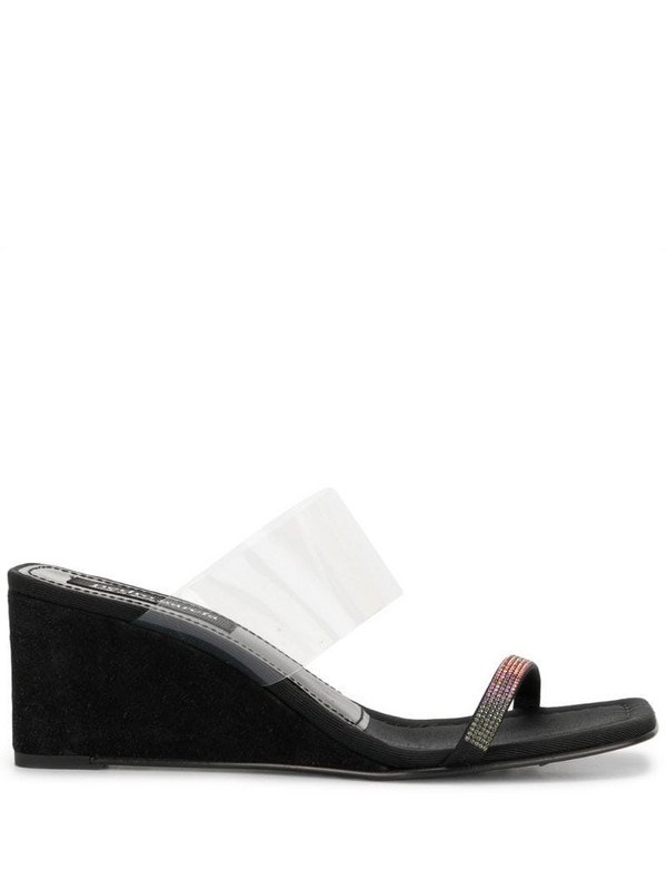 Pedro Garcia Idaly clear sandals in black