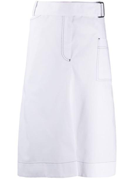 Eudon Choi split pencil skirt in white