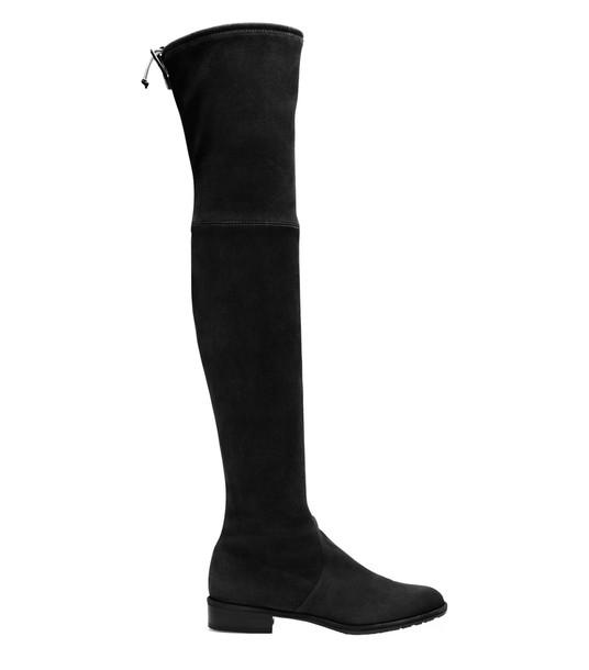 Stuart Weitzman Lowland Suede Boots in black