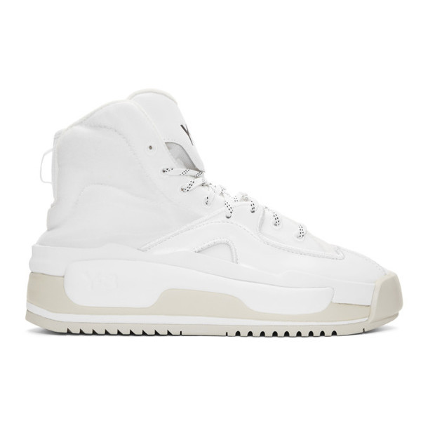 Y-3 White Hokori High-Top Sneakers