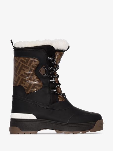Fendi T-Rex trekking boots in black
