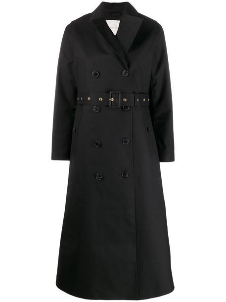 Mackintosh MONTROSE Black Bonded Wool & Mohair Long Trench Coat - LR-091