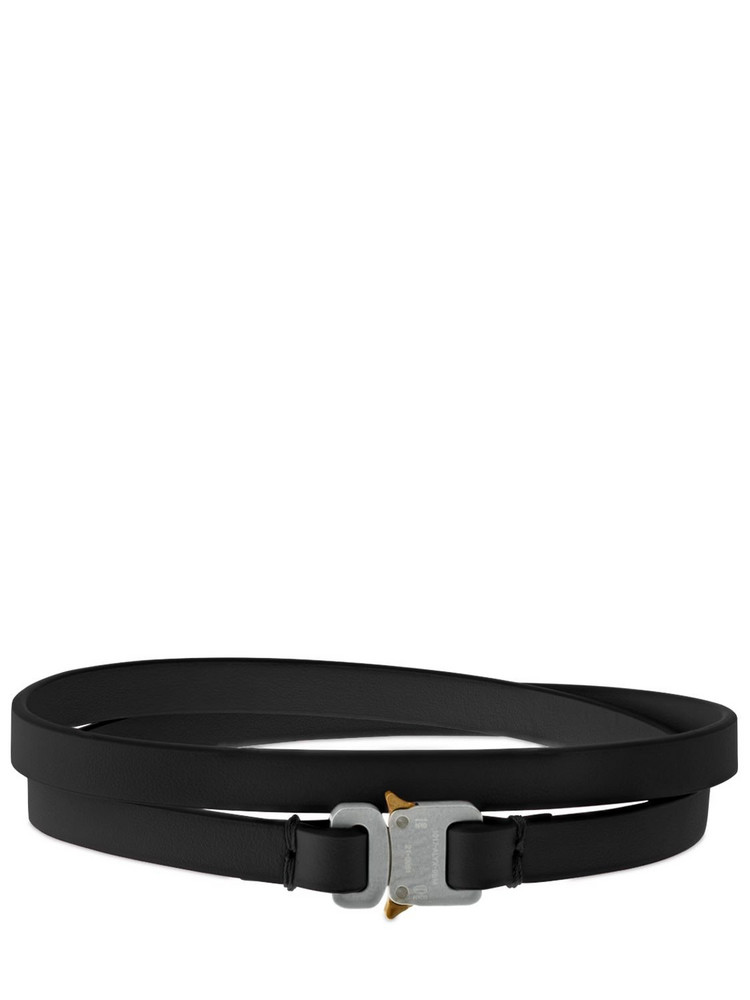 1017 ALYX 9SM Double Wrap Micro Buckle Leather Choker in black