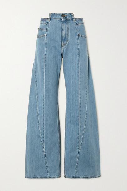 Maison Margiela - Paneled High-rise Wide-leg Jeans - Blue