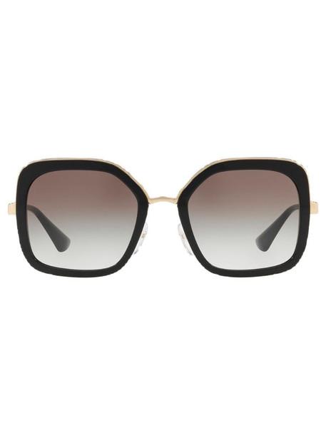 Prada Eyewear oversized square frame sunglasses in black
