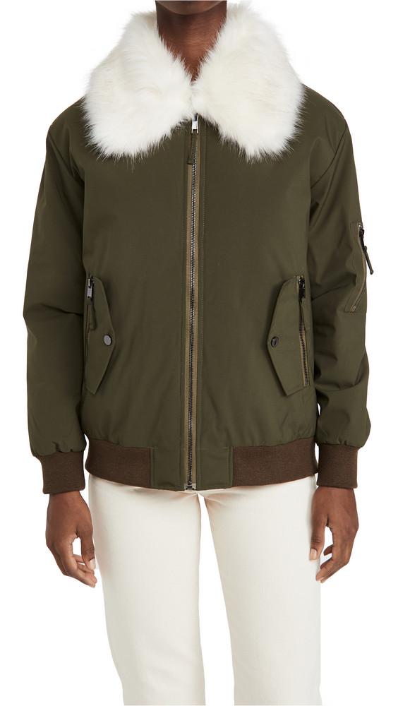 Adrienne Landau Faux Fur Jacket in green
