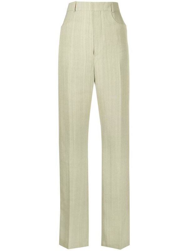 Jacquemus Sauge tailored trousers in green