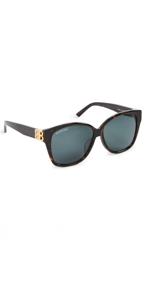 Balenciaga Dynasty Square Sunglasses in gold / green