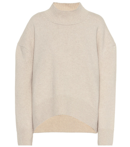 Brock Collection Pilota wool and cashmere sweater in white