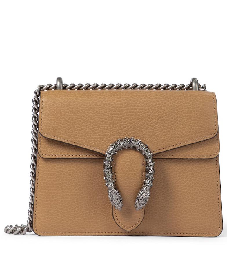 Gucci Dionysus Mini leather shoulder bag in brown