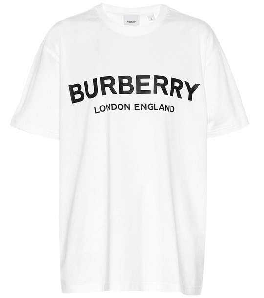 Burberry Logo cotton T-shirt in white
