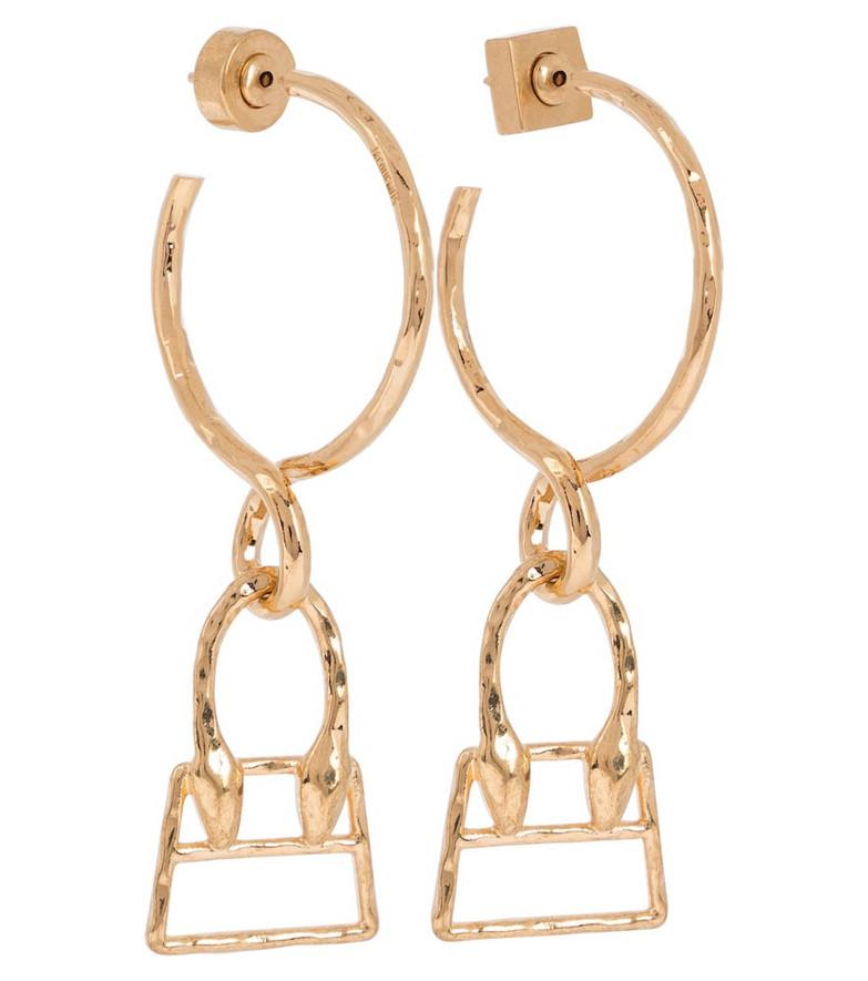 Jacquemus Les Creoles Chiquita hoop earrings in gold