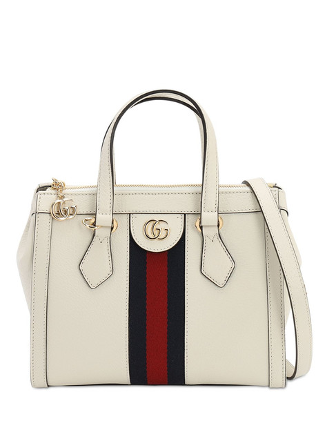 GUCCI Leather Shoulder Bag in white