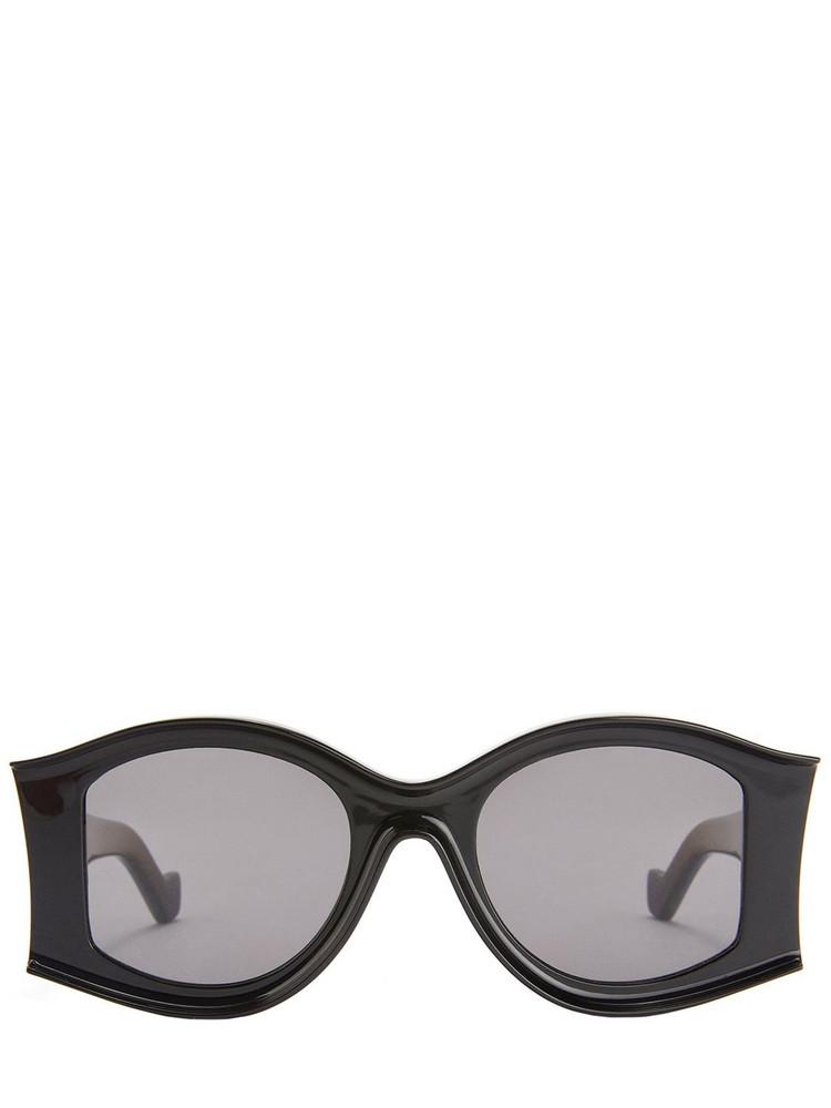 LOEWE Paula's Round Acetate Sunglasses in black