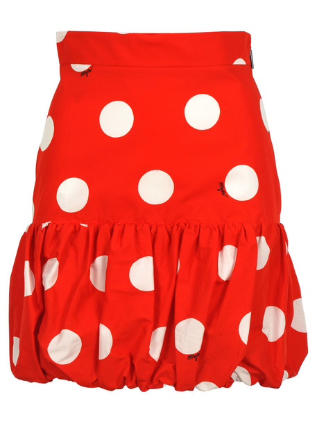 Msgm Skirt Pua in red / white
