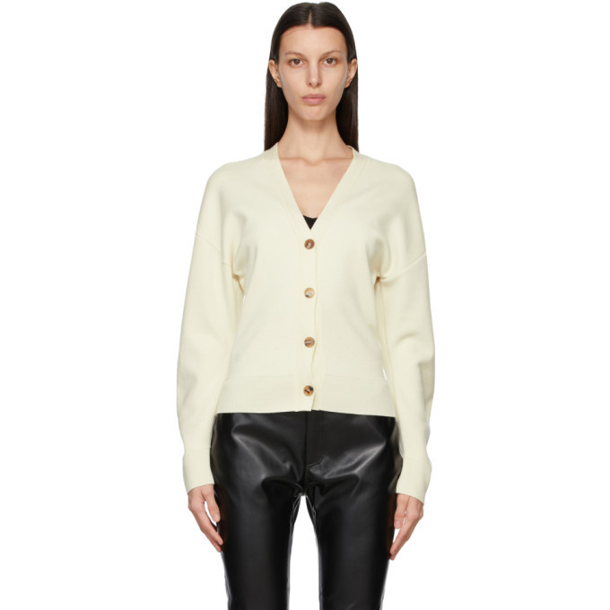 DRAE Off-White Wool Oversized Cardigan in ivory