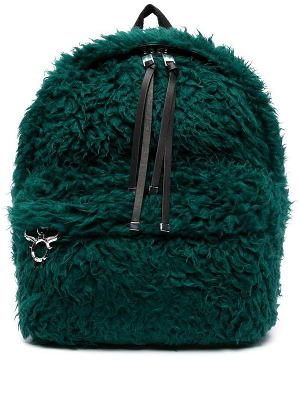 Diesel Dhorian faux-fur backpack in green