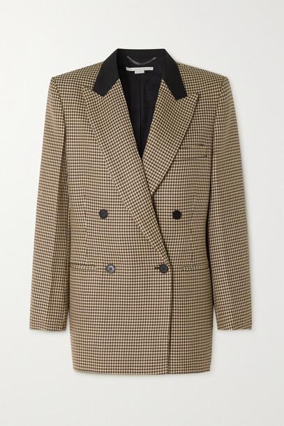 Stella McCartney - Meya Double-breasted Houndstooth Wool Blazer - Neutrals