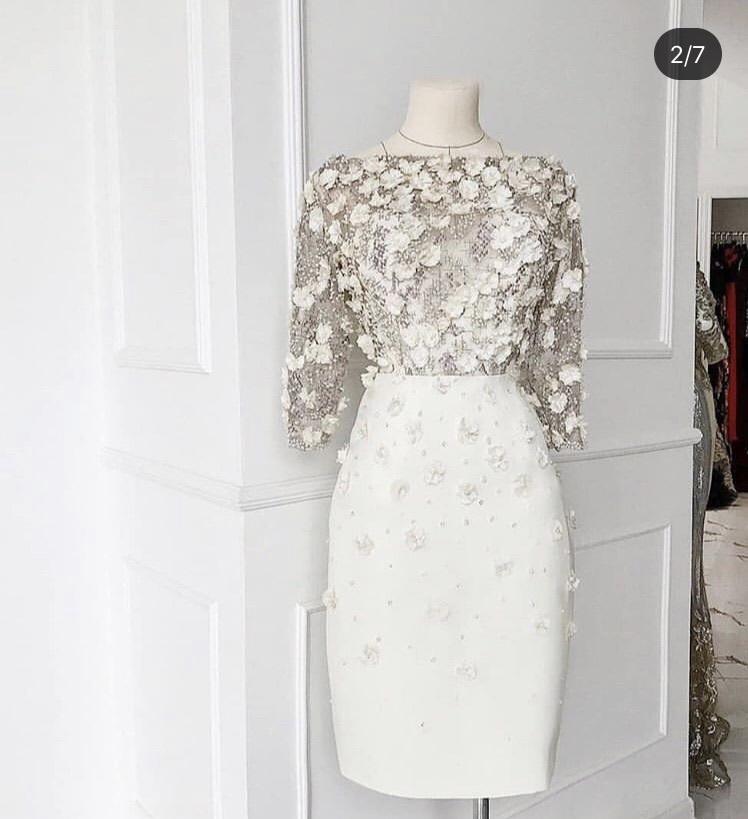 dress white instagram white dress girl stylish style flowers elegant dress elegant
