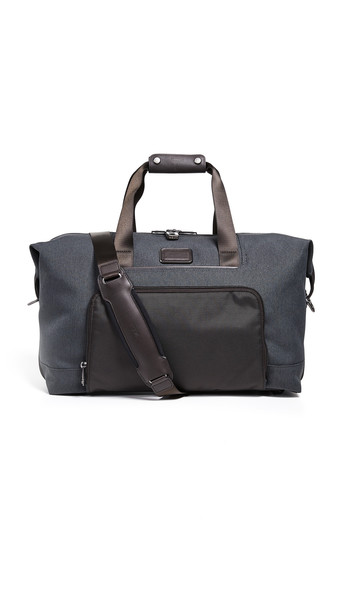 TUMI Alpha Double Expansion Satchel Bag in anthracite