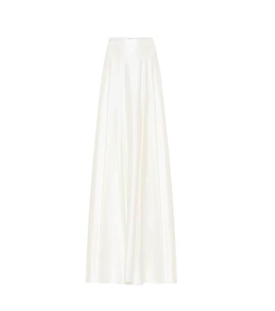 Max Mara Mentana satin maxi skirt in white
