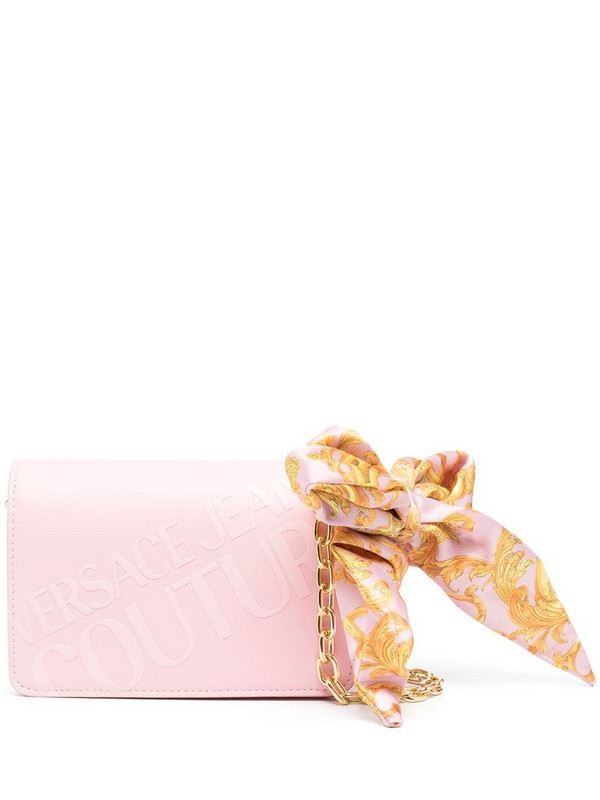 Versace Jeans Couture logo-print crossbody bag in pink