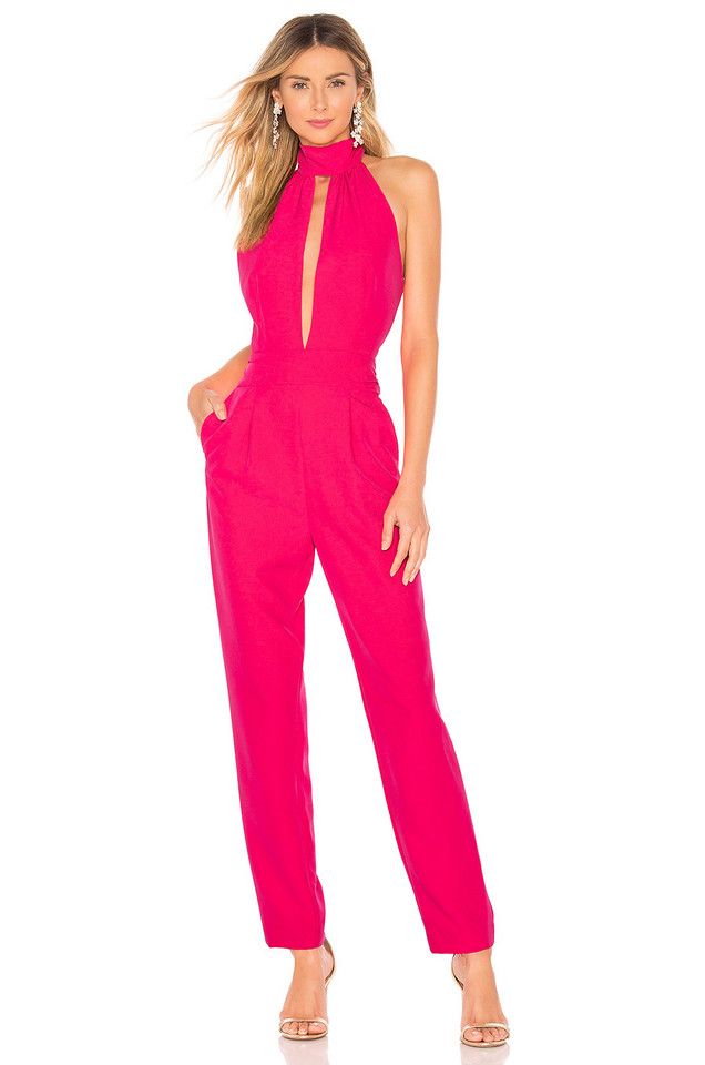 MILLY Kara Jumpsuit in pink