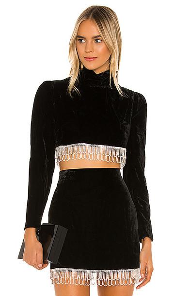 Camila Coelho Aliah Cropped Top in Black