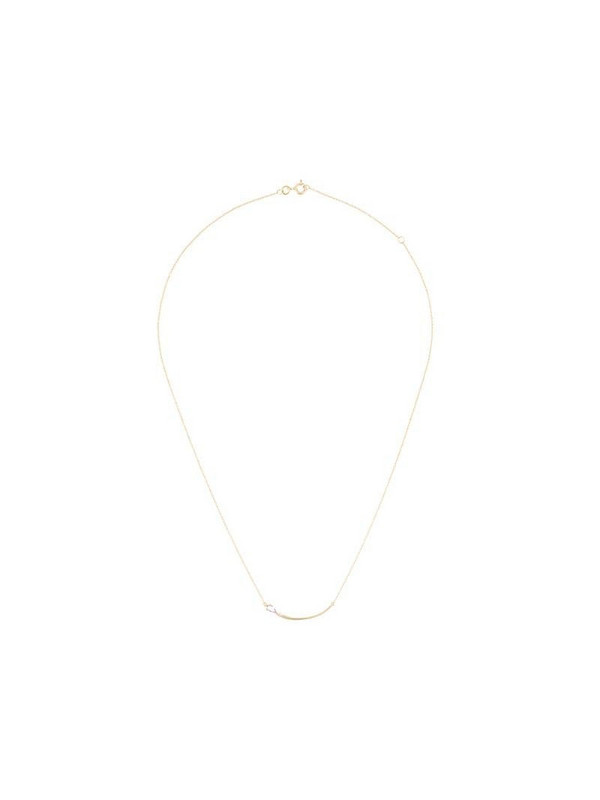 LE STER 18kt yellow gold diamond Bengal flare large necklace