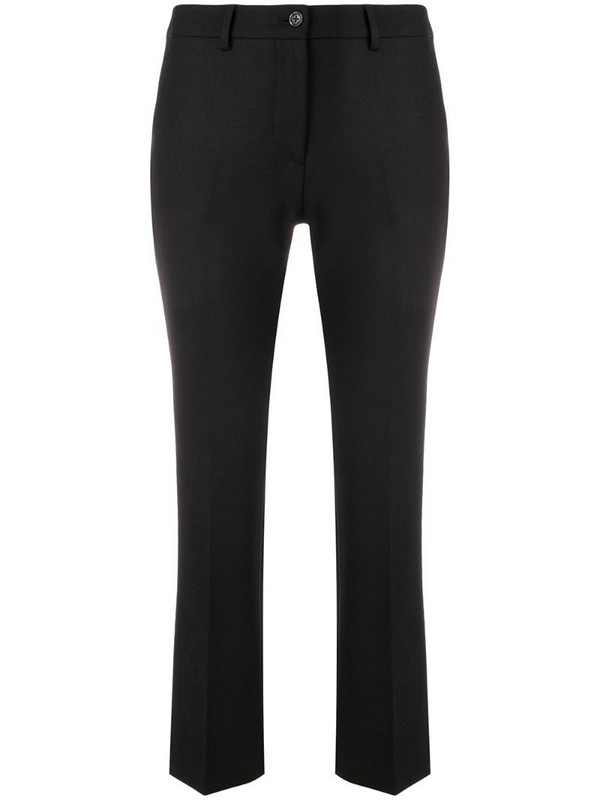Pt01 Jaine cropped trousers in black