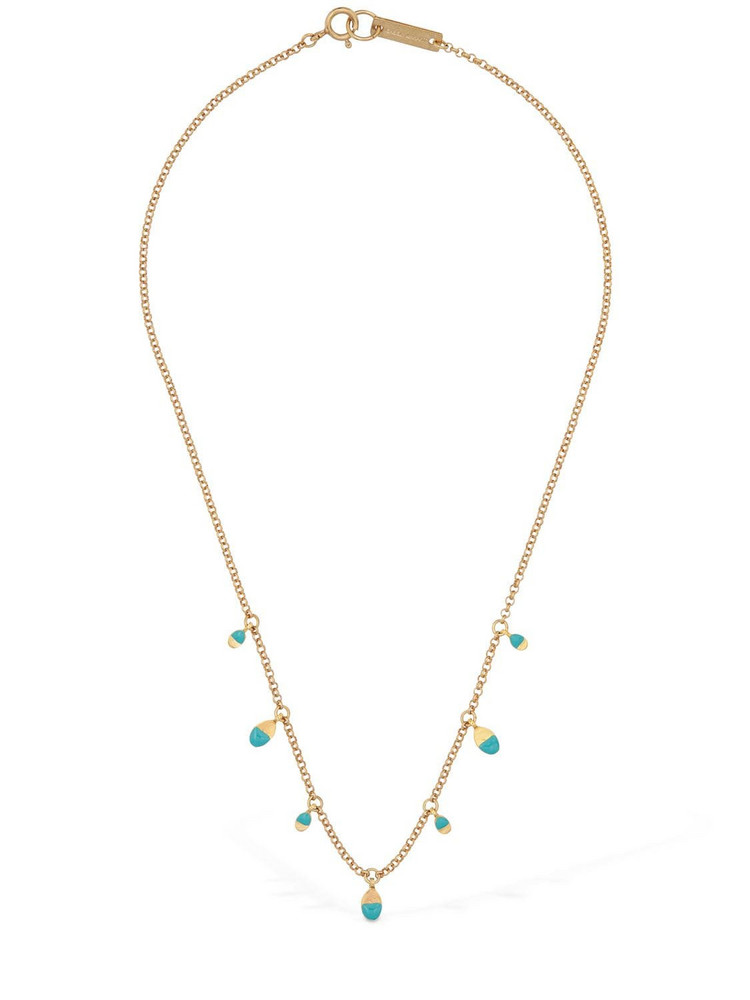 ISABEL MARANT Bicolor New Leaves Short Necklace in gold / green