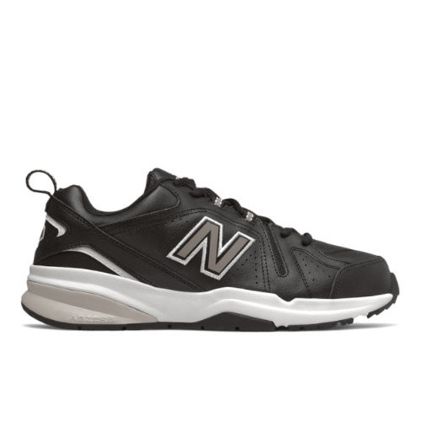 New Balance 608v5 Men's Everyday Trainers Shoes - Black/White (MX608RB5)