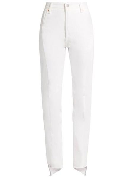 Vetements - X Levi's Reworked Straight Leg Jeans - Womens - White
