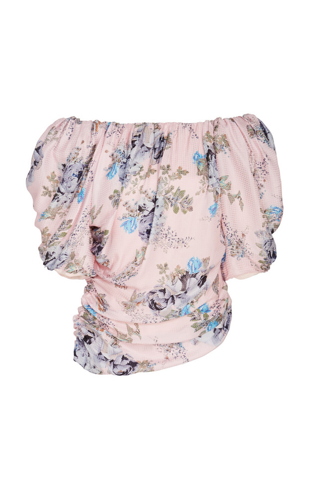 Preen by Thornton Bregazzi Guedeline Draped Off-The-Shoulder Top in pink